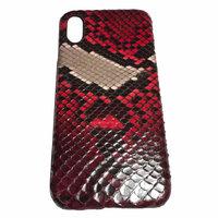 Красный чехол из кожи питона для iPhone X / Xs 10