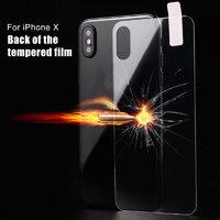 Заднее защитное стекло для iPhone X 10 - Back Tempered Glass Овальный вырез под камеру