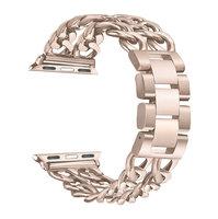 Золотой браслет из нержавеющей стали для Apple Watch 42мм