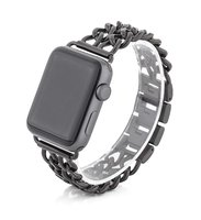 Черный браслет из нержавеющей стали для Apple Watch 42мм / 44мм
