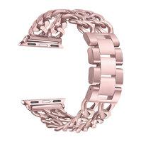 Розовое золото, браслет из нержавеющей стали для Apple Watch 42мм