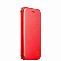 Красный кожаный чехол книжка для iPhone X / Xs 10
