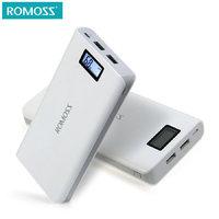Аккумулятор внешний ЖК-дисплей универсальный Romoss Sense 6 Plus 20 000 mAh Power bank 2 USB White Белый