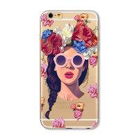 Силиконовый чехол накладка для iPhone 7 / 8 Девушка в розовых очках