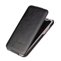 Черный кожаный чехол флип для iPhone X 10 - Fashion Flip Case Black