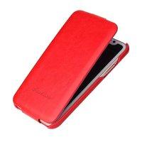 Красный кожаный чехол флип для iPhone X 10 - Fashion Flip Case Red