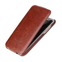 Коричневый кожаный чехол флип для iPhone X 10 - Fashion Flip Case Brown