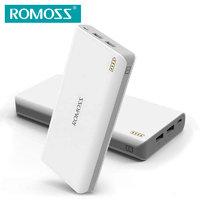 Аккумулятор внешний универсальный Romoss Sense 6 20 000 mAh Power bank 2 USB White Белый