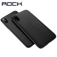 Черный силиконовый чехол ROCK для iPhone X 10 с перфорацией