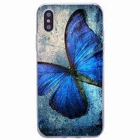 Силиконовый чехол для iPhone X 10 с рисунком Бабочка