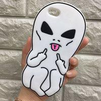 Силиконовый чехол для Apple iPhone iPhone 7 / 8  Белый Инопланетянин