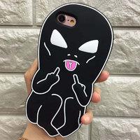 Силиконовый чехол для Apple iPhone iPhone 7 / 8  Черный Инопланетянин