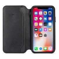 Черный кожаный чехол книжка для Apple iPhone X / Xs 10 - Leather Folio Case Black