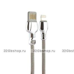 Серебристый USB кабель Remax King Data Cable LIGHTNING charging 1.0 м