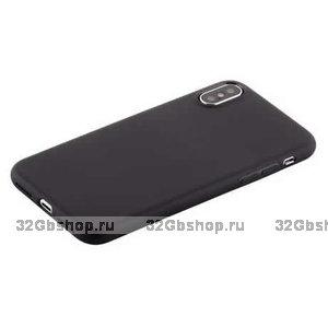 Черный силиконовый супертонкий чехол для iPhone X 10 - COTEetCI Grind Arenaceous TPU Case Black