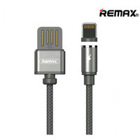 Магнитный кабель с подсветкой USB Remax Data Cable LIGHTNING charging 1.0 м - нейлоновая оплетка