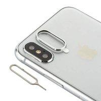 Защитное кольцо камеры для iPhone X / Xs серебро - COTEetCI Aluminium Silver
