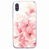Силиконовый чехол для iPhone X / Xs 10 с рисунком Цветы сакуры