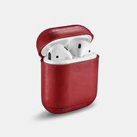Красный кожаный чехол для AirPods - I-Carer Vintage Leather Protective Case Red