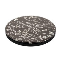 Беспроводная зарядка для iPhone X / 8 / 8 Plus - I-Carer Printed Pattern Leather Fast Wireless Charging Math Formula 2A
