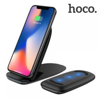 Черная быстрая беспроводная зарядка подставка для iPhone X / 8 - Hoco Excellent Power Fast Charging Black 5-9V 2A