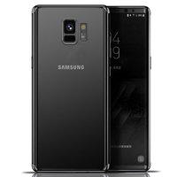 Прозрачный силиконовый чехол с черным бампером для Samsung Galaxy S9
