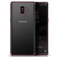 Прозрачный силиконовый чехол с бампером розовое золото для Samsung Galaxy S9