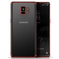 Прозрачный силиконовый чехол с красным бампером для Samsung Galaxy S9