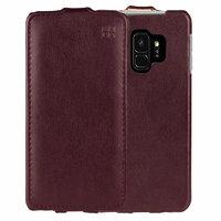 Красный кожаный чехол флип для Samsung Galaxy S9 - IMUCA Leather Flip Case Red