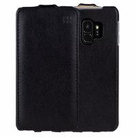 Черный кожаный чехол флип для Samsung Galaxy S9 - IMUCA Leather Flip Case Black