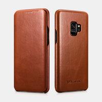 Коричневый кожаный чехол книга для Samsung Galaxy S9 - i-Carer Vintage Series Brown