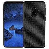 Черный карбоновый чехол для Samsung Galaxy S9