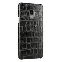 Черный из кожи крокодила для Samsung Galaxy S9