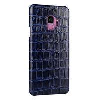 Синий чехол из крокодиловой кожи для Samsung Galaxy S9