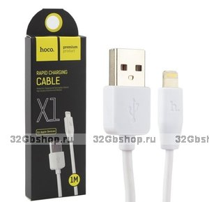 Кабель Lightning - USB Hoco X1 для iPhone 5 / 5s / 5c / SE, iPhone 6s / 6 / 7 / 7 Plus, iPhone 8 / 8 Plus, iPhone X, iPad