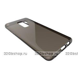 Черный прозрачный силиконовый чехол для Samsung Galaxy S9+