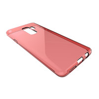 Красный прозрачный силиконовый чехол для Samsung Galaxy S9+ Plus