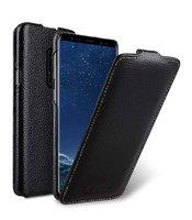Черный кожаный чехол для Samsung Galaxy S9+ Plus - Melkco Premium Leather Case Jacka Type Black