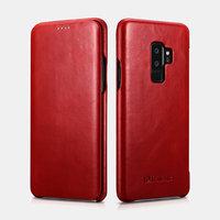 Красный кожаный чехол книга для Samsung Galaxy S9+ Plus - iCarer Vintage Series Red