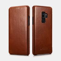 Коричневый кожаный чехол-книга для Samsung Galaxy S9+ Plus - iCarer Vintage Series Brown