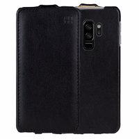 Черный кожаный чехол для Samsung Galaxy S9+ Plus - IMUCA Leather Flip Case Black