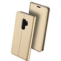 Золотой чехол книжка для Samsung Galaxy S9 Plus - Wallet Card Book Case Gold