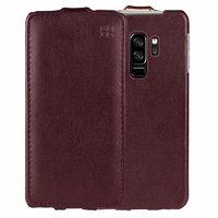 Красный кожаный чехол флип для Samsung Galaxy S9 Plus - IMUCA Leather Flip Case Red