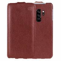 Коричневый кожаный чехол флип для Samsung Galaxy S9 Plus - IMUCA Leather Flip Case Brown