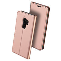 Чехол книжка для Samsung Galaxy S9 Plus розовое золото - Wallet Card Book Case Rose Gold