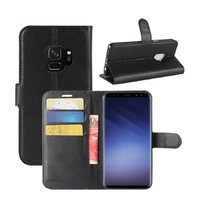 Черный чехол-книга для Samsung Galaxy S9+ Plus - Wallet Card Book Case Black