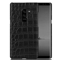Черный чехол из кожи крокодила для Samsung Galaxy S9 Plus брюшко