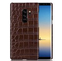 Коричневый чехол из кожи крокодила для Samsung Galaxy S9 Plus брюшко
