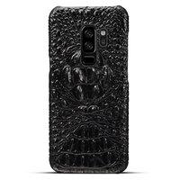 Черный чехол из кожи крокодила для Samsung Galaxy S9 Plus хребет