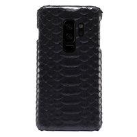 Черный чехол из кожи питона для Samsung Galaxy S9 Plus